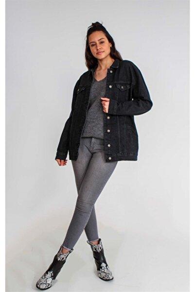 Collezione Siyah Kadın Mavi Spor Regular Ceket