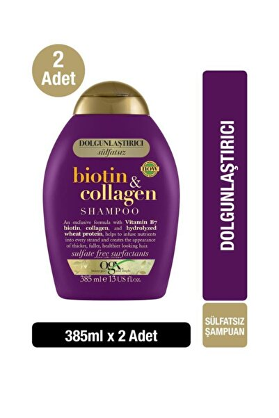 OGX Biotin & Kolajen Sülfatsız Şampuan 385 ml X2