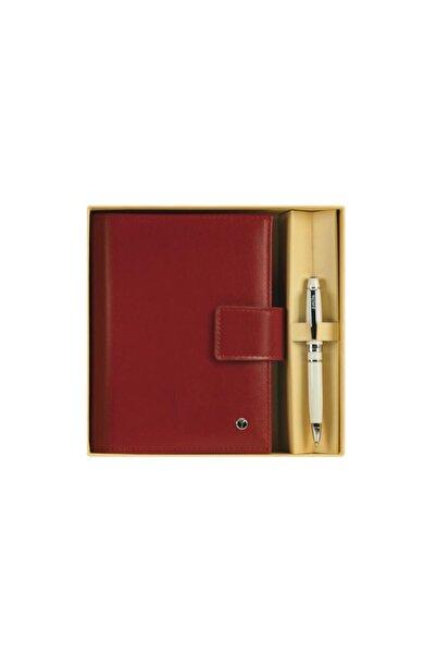 Scrikss Soft Deri Kırmızı Cep Ajandası Kutulu 14,5 X 11cm Dr3202-c2