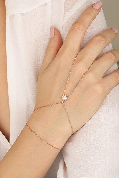 Lia Berto Kadın Rose Yıldız Model 925 Ayar Gümüş Şahmeran
