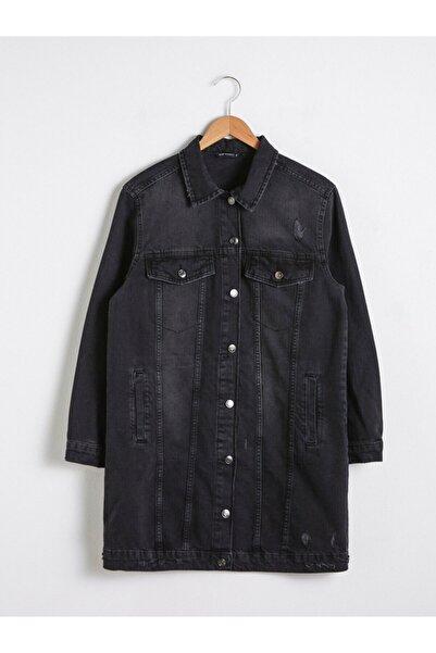 LC Waikiki Kadın  Siyah Jean Ceket