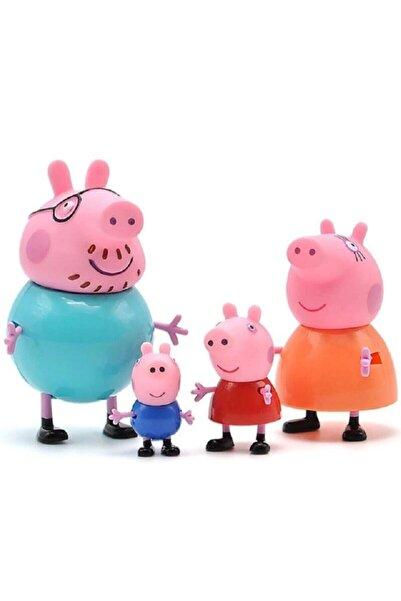 BANDAI Peppa Pig Action Figure - Domuz Peppa Ailesi Aksion Figür Tam Set