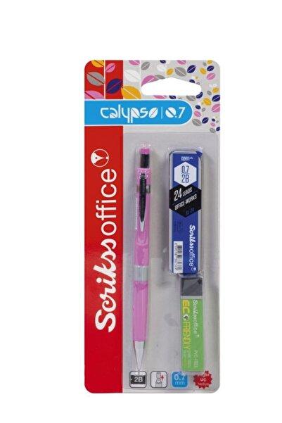 Scrikss Calypso Color Okul Seti (versatil Kalem 0.7mm + Min + Silgi) Pembe
