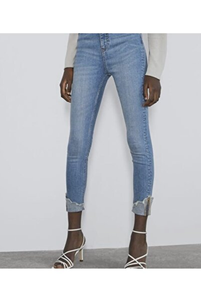 Vero Moda Paça Yırtık Detaylı Skinny Kot Pantolon