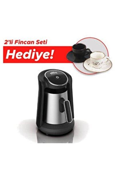 Ok0010-k Okka Minio Pro Türk Kahvesi Makinesi - Krom - 2'li Fincan Hediyeli