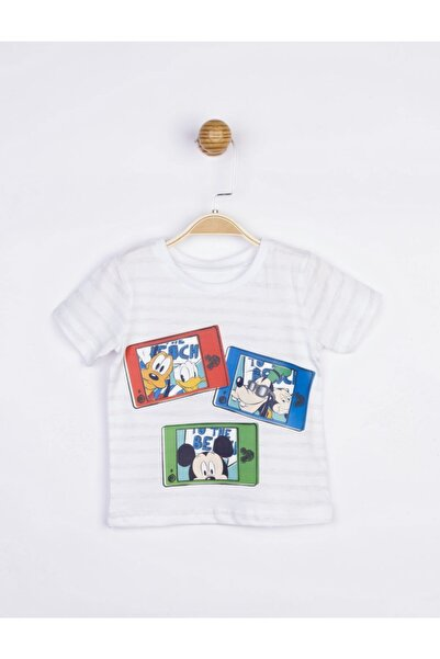 Mickey Mouse Erkek Çocuk Ekru Mickey Tişört 17701