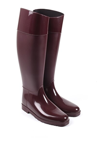 Sapin Kadın Bordo Yağmur Çizmesi 33002