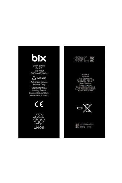 Bix Apple Iphone 7 Için 2150mah Batarya Pil