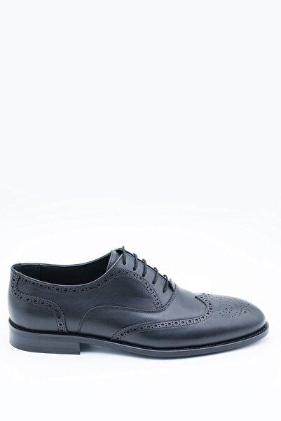 İgs Erkek Siyah Deri Klasik Ayakkabı
