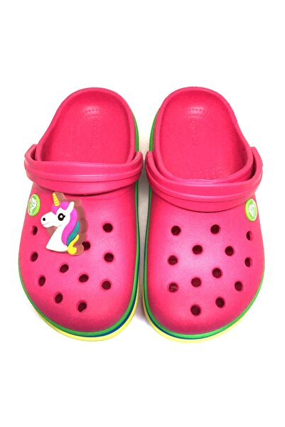 Pointspor Crocs Terlik Süsü & Renkli Led Işıklı Aksesuar Jibbitz-unicorn