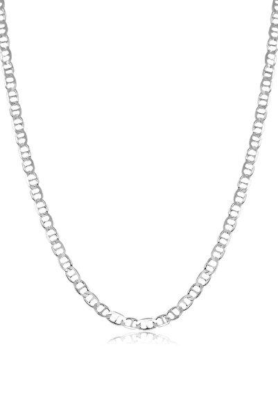 Ventino Silver Barlı Gümüş Erkek Zincir Kolye Vek-3016