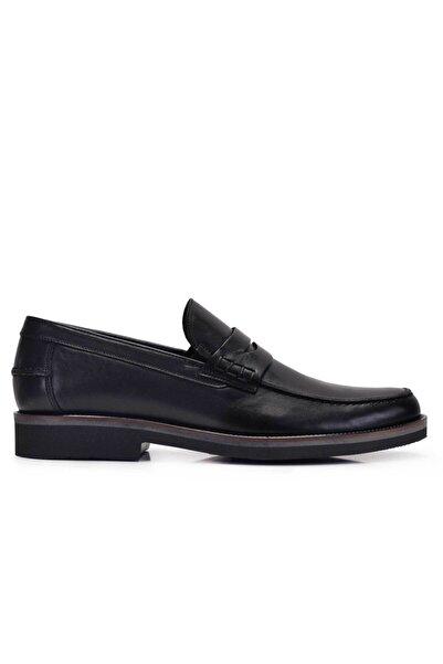 Nevzat Onay Erkek Siyah Hakiki Deri Günlük Loafer Ayakkabı -11560-
