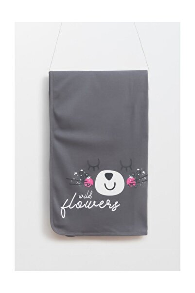 Wogi Flowers Çift Katlı Penye Battaniye