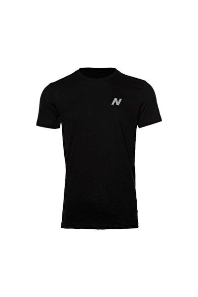 New Balance Erkek Siyah T-shirt Mpt028-bk