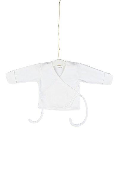 Aziz Bebe Erkek Yeni Doğan Ekru Kendinden Eldivenli Beli Kuşaklı Dış Zıbın Azz055028
