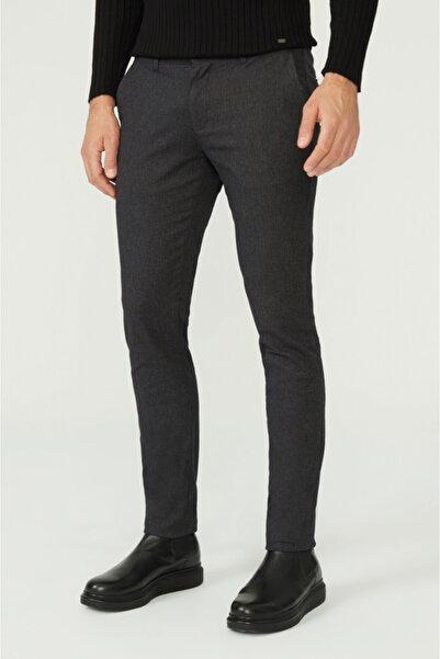 Avva Erkek Antrasit Yandan Cepli Flanel Slim Fit Pantolon A02y3042
