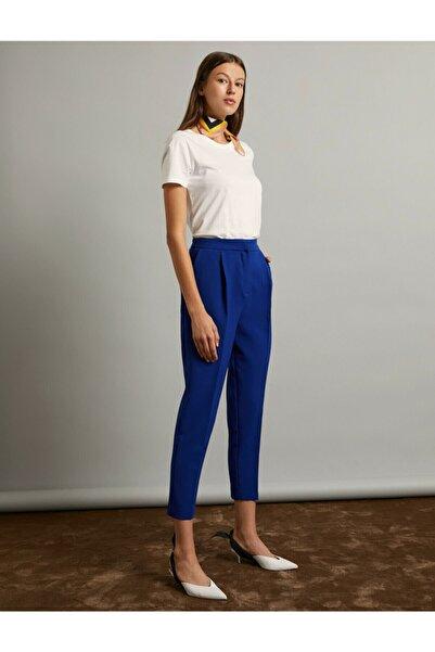 Koton Kadın Mavi Pantolon 9KAK42048UW
