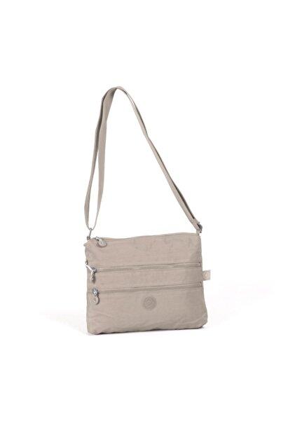 SMART BAGS 1185 Krinkıl Kumaş Postacı Kadın Çantası Vizon