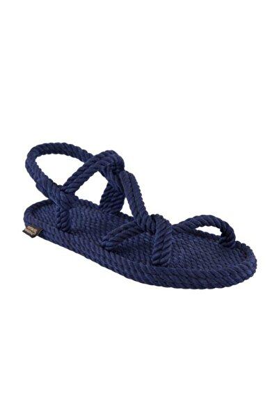 Nomadic Republic Mykonos Kadın Halat Sandalet - Lacivert