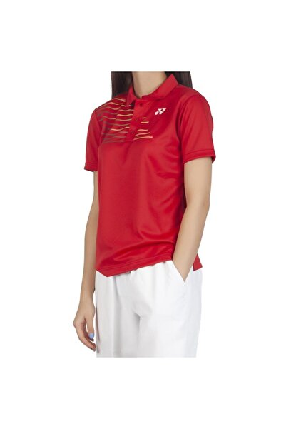 YONEX 12133 Çocuk Kırmızı Tenis Tişörtü