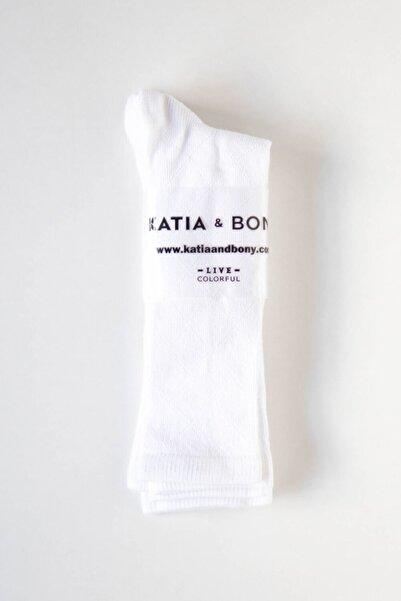 Katia&Bony Basic Dizaltı Kadın Çorap- Beyaz