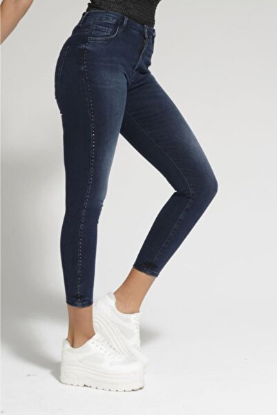 Batik Lacivert Kadın Jean Pantolon A1090