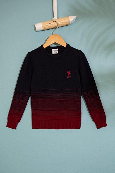 U.S. Polo Assn. Kırmızı Erkek Cocuk Triko Kazak