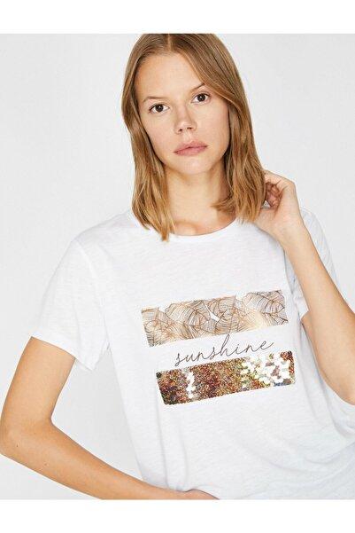 Koton Kadın Yazılı Baskılı Tişört