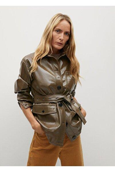 MANGO Woman Kadın Kahverengi Ceket