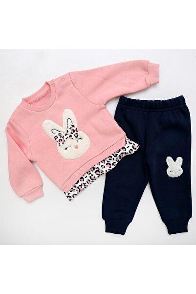 Bella Baby 2'li Tavşanlı 3 Iplik Lüx Bebek Takım Pembe