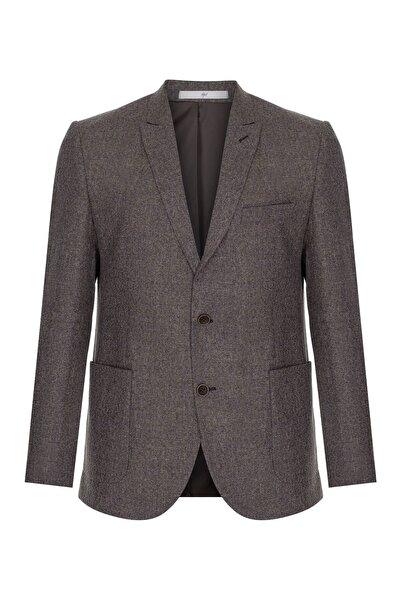İgs Erkek Bej Slım Fıt / Dar Kalıp Ince Kırlangıç Ceket
