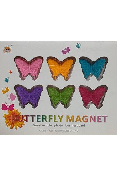MorzaHome 6lı Kelebek Desenli Buzdolabı Magneti