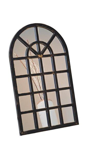 Hüma's Dekoratif Pencere Ayna Eskitme Siyah 105x65 Cm