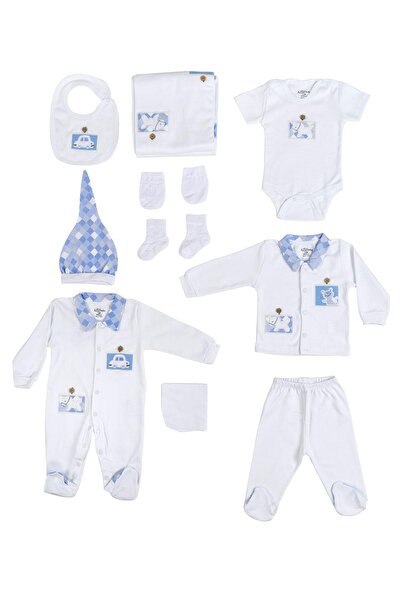 Aziz Bebe Erkek Bebek 10lu Takım 0-3 Ay AZZ010232