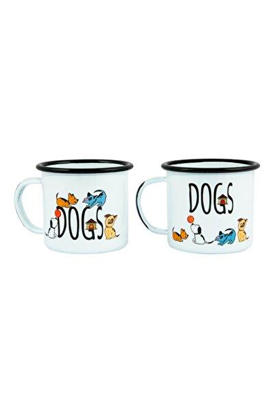 Biggdesign Dogs 2'li Emaye Kupa Seti