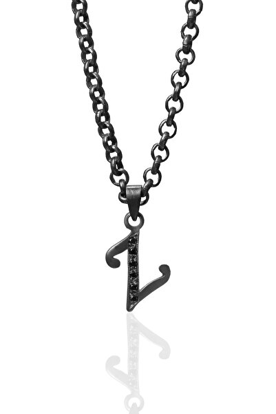 Agora Pırlanta Black Diamond Unisex Z Harfi Pırlanta Kolye