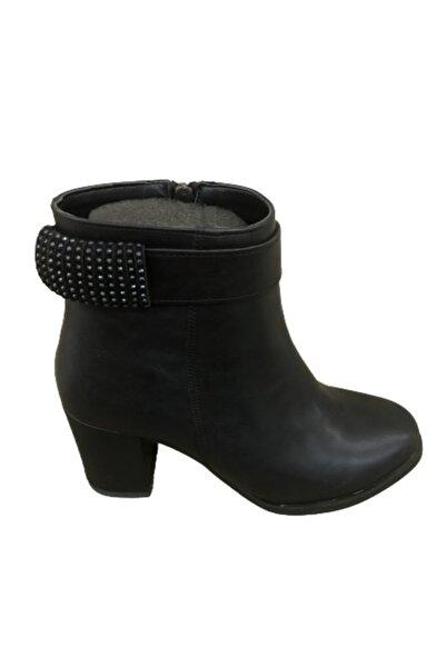 Emay Kadın Siyah Topuklu Bot