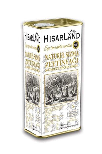 Hisarland Yeni Hasat Naturel Sızma Soğuk Sıkım Zeytinyağı 5 Lt.