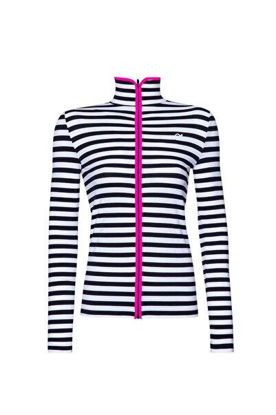 FİT21 Siyah Beyaz Çizgili Sweatshirt Siyah Şerit
