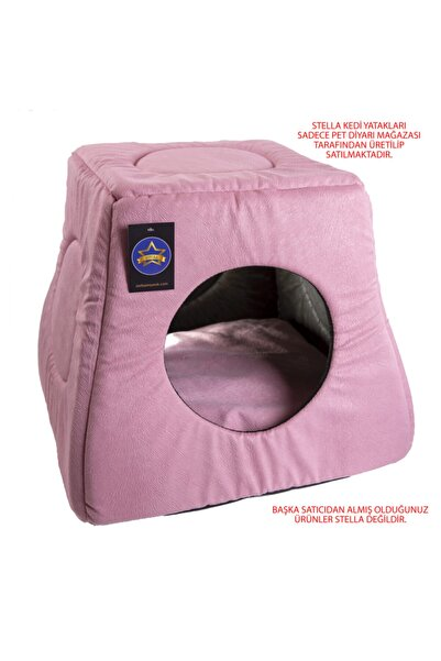 Stella Pembe Üç Fonksiyonlu Kedi Yatak