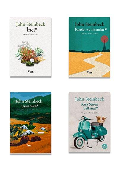 Sel Yayınları John Steinbeck 4 Kitap Set ( Fareler Ve Insanlar, Inci, Kısa Süren Saltanat, Uzun Vadi )