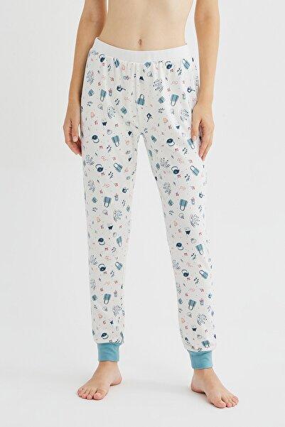 Penti Beyaz Me Time Termal Pantolon