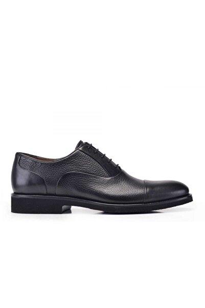 Nevzat Onay Hakiki Deri Siyah Bağcıklı Erkek Ayakkabı