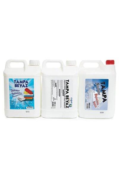 TAMPA Beyaz Sabun Parfümlü 5lt'lik 3'lü Set Yumuşatıcı/el Sabunu/yüzey