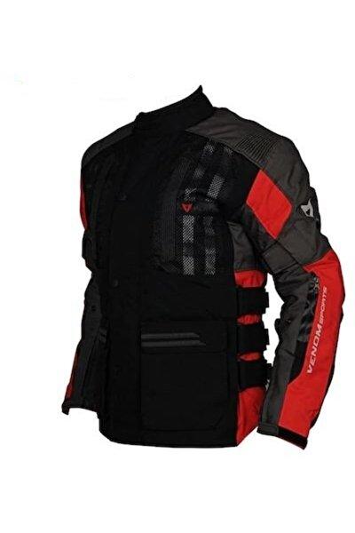 VENOM Tourex Touring Siyah-kırmızı Motosiklet Ceketi