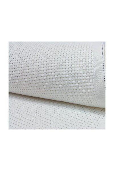 METİNLER EV TEKSİLİ Etamin Seccade Kumaşı Beyaz 75x125 Cm