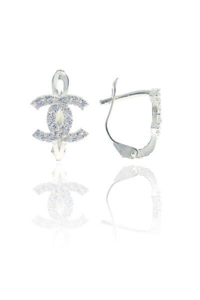 Midyat Artuklu Gümüşçülük Chanel Modeli Gümüş Bayan Küpe