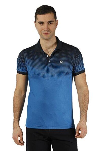 Crozwise Erkek Lacivert Micro Polyester Polo Yaka T-shirt
