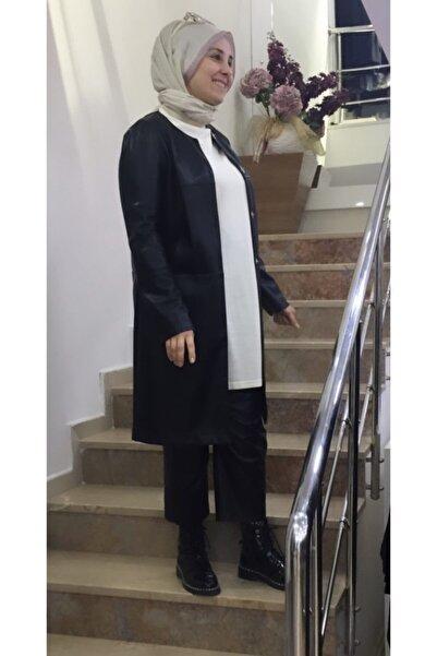 Al-Marwah Kadın Siyah Deri Ceket