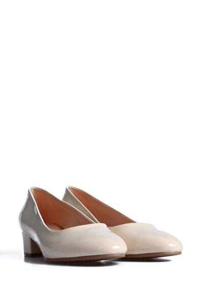 PUNTO Kadın Bej Ten Rengi Günlük Topuklu Ayakkabı